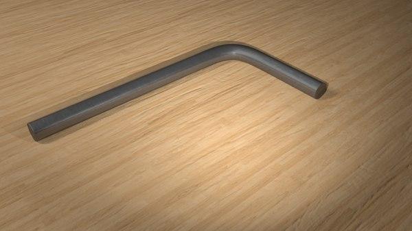 allan key 3D model