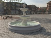 classic fountain water 3D model