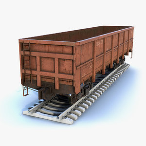 3D model low-poly cargo