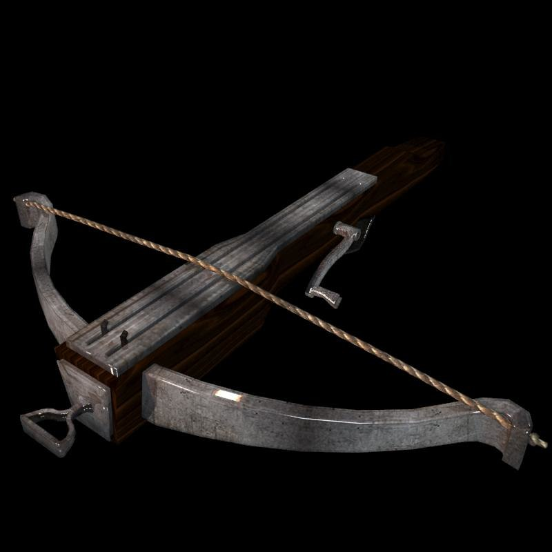 crossbow bow medieval model