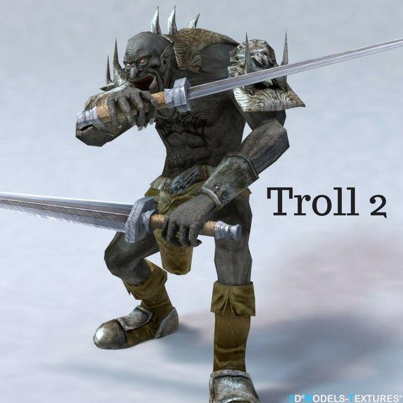 3D model troll creature 2