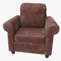 Armchair red old