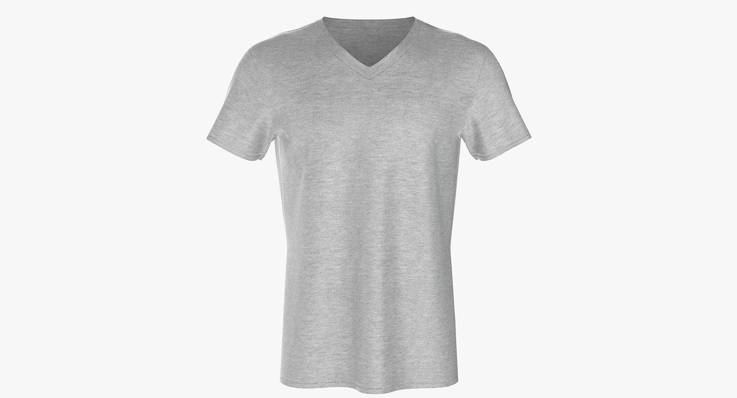 v neck t-shirt model