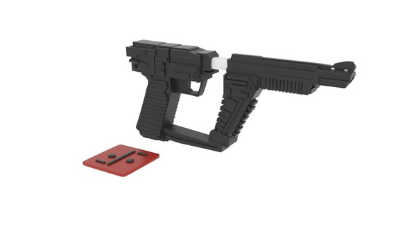 3D visitor gun model