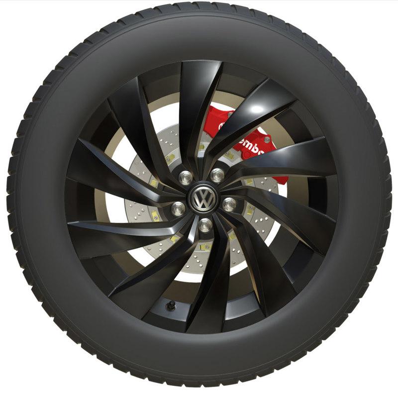 volkswagen wheel 3D model