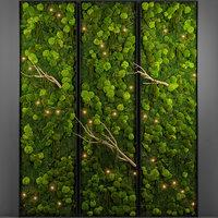 3D panel moss wall