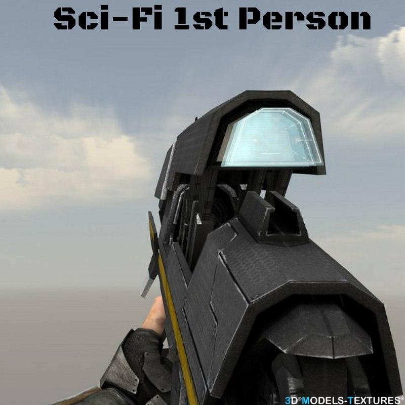 sci-fi person 3D model