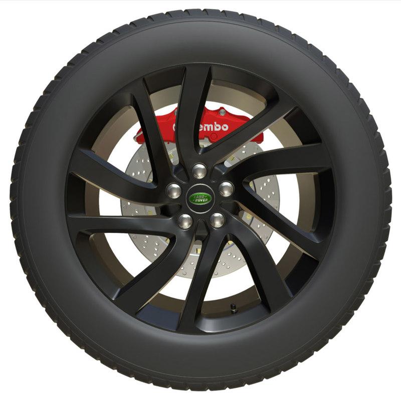rover wheel 3D model