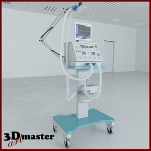 ventilator medical equipment 3D