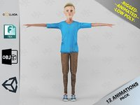 3D cartoon boy motion pack