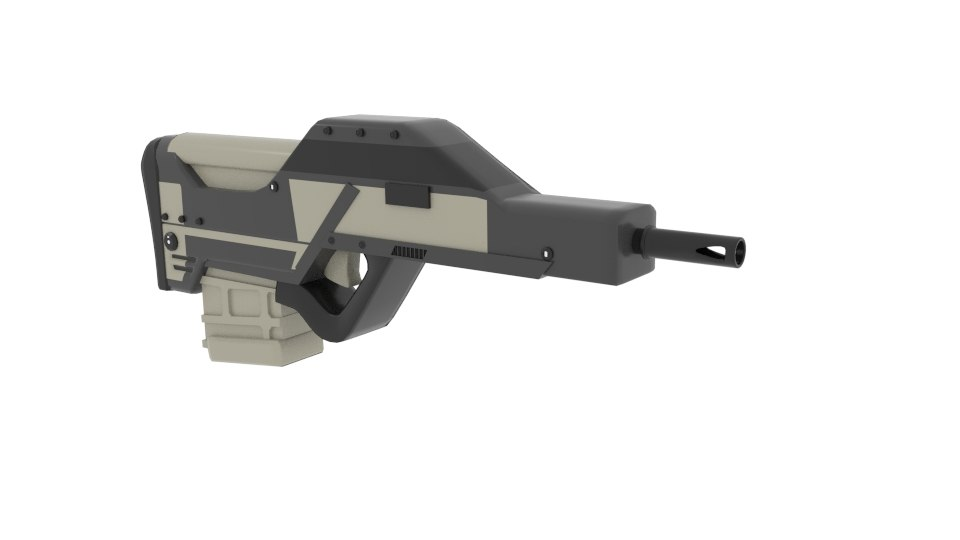 3D model myweapon flat gun