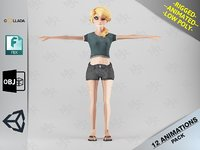 female toon motion pack 3D model