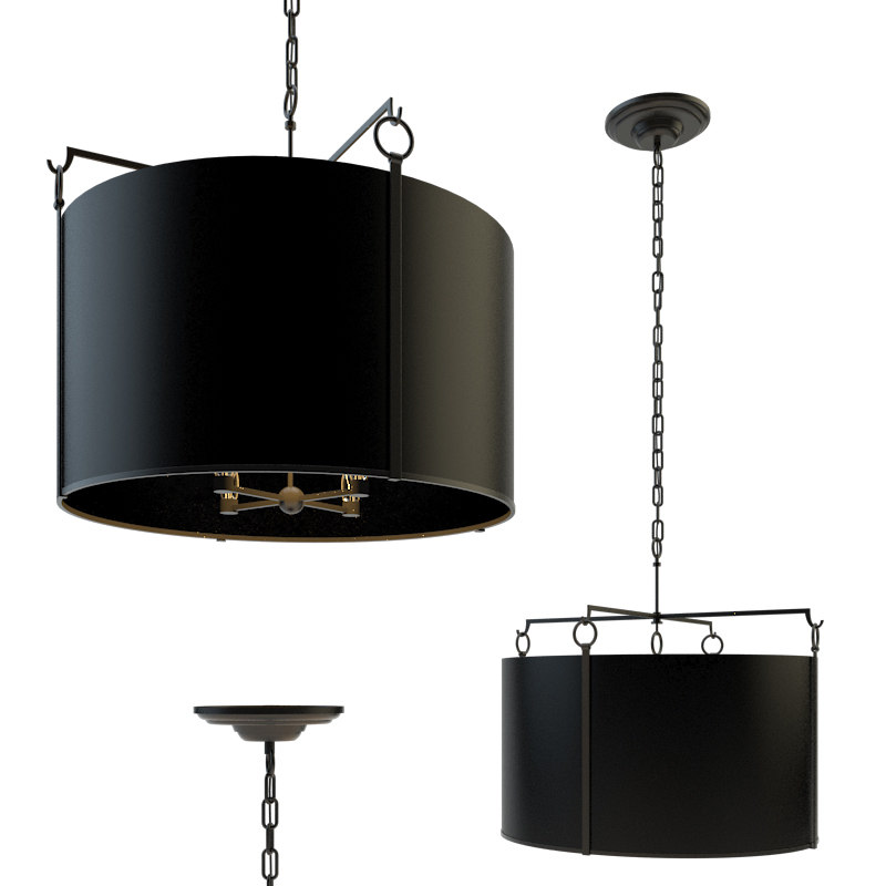 aspen large hanging shade 3D model