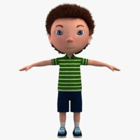 boy character cartoon 3D model
