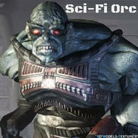sci-fi orc 3D