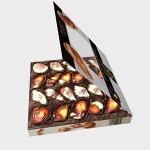 3D belgian chocolate model
