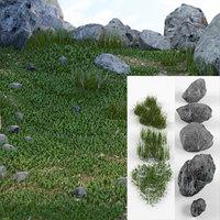 3D model grass terrains