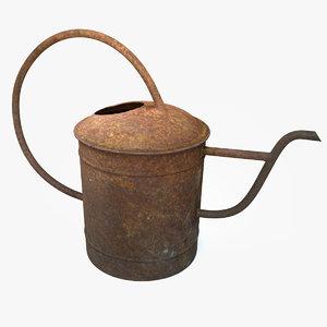 rusty watering 3D model