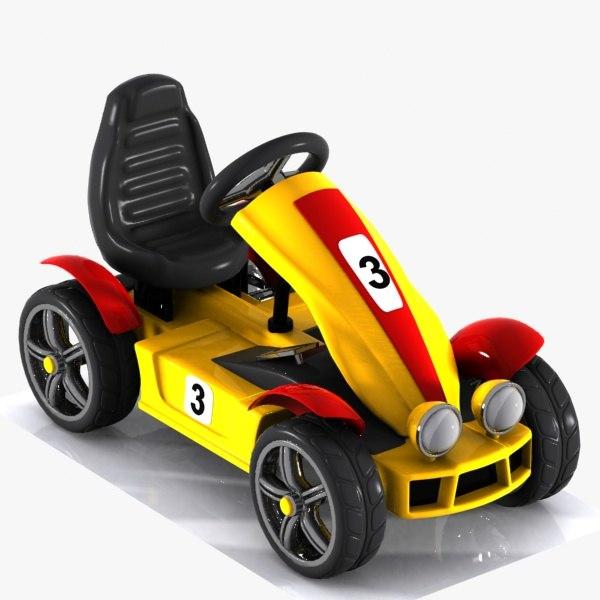 3D racing car toon model