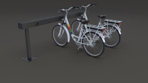 3D electric bicycle station