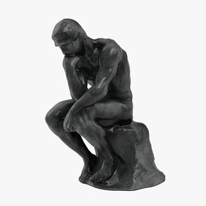 thinker statue 3D model