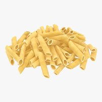 realistic penne pasta pile model