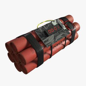 dynamite 3D model