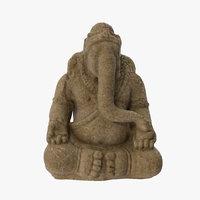 3D ganesha sandstone statue