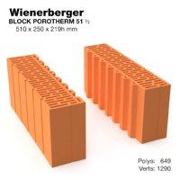 3D wienerberger block model