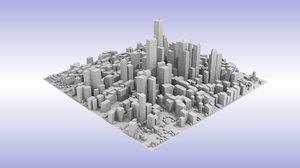 cityscape streets 3D model