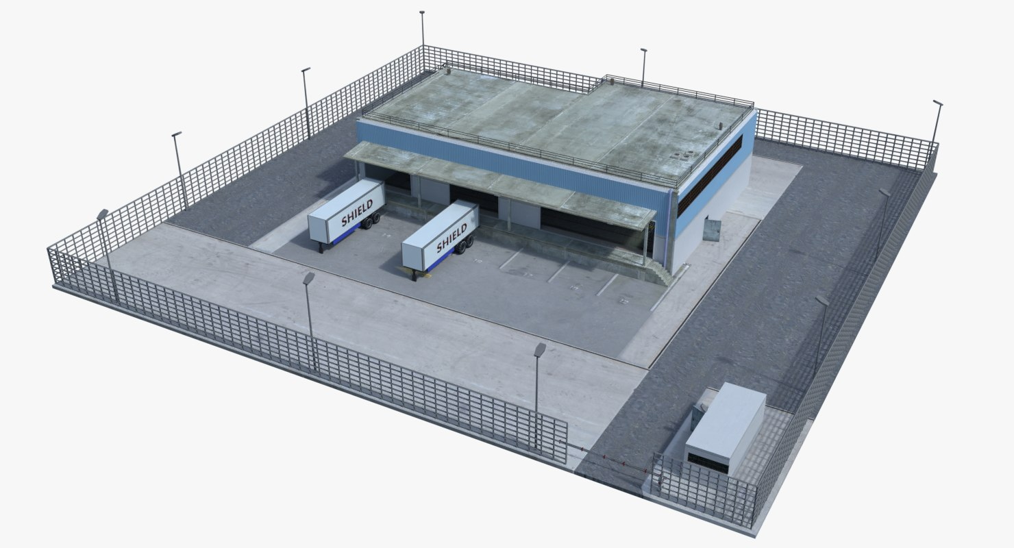 Warehouse Loaded 2 Interior Exterior 3d Model Turbosquid