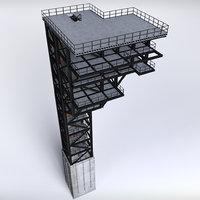 rocket launch complex platform 3D