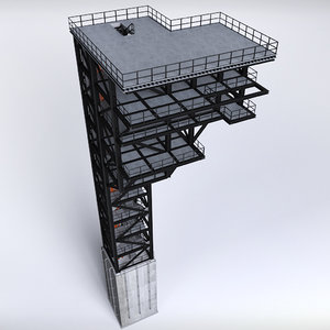 rocket launch complex platform 3D