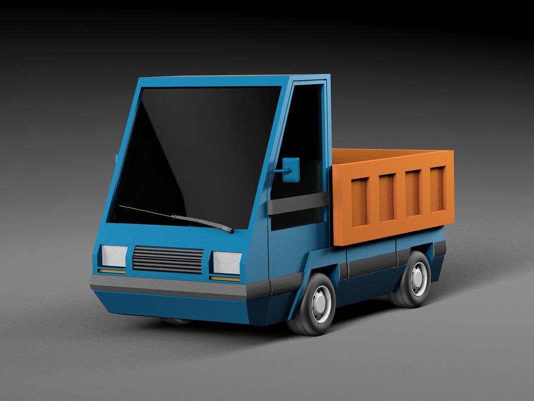 cartoon car model