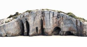 3D model mediterranean cliff