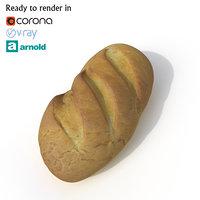 3D bread arnold corona model