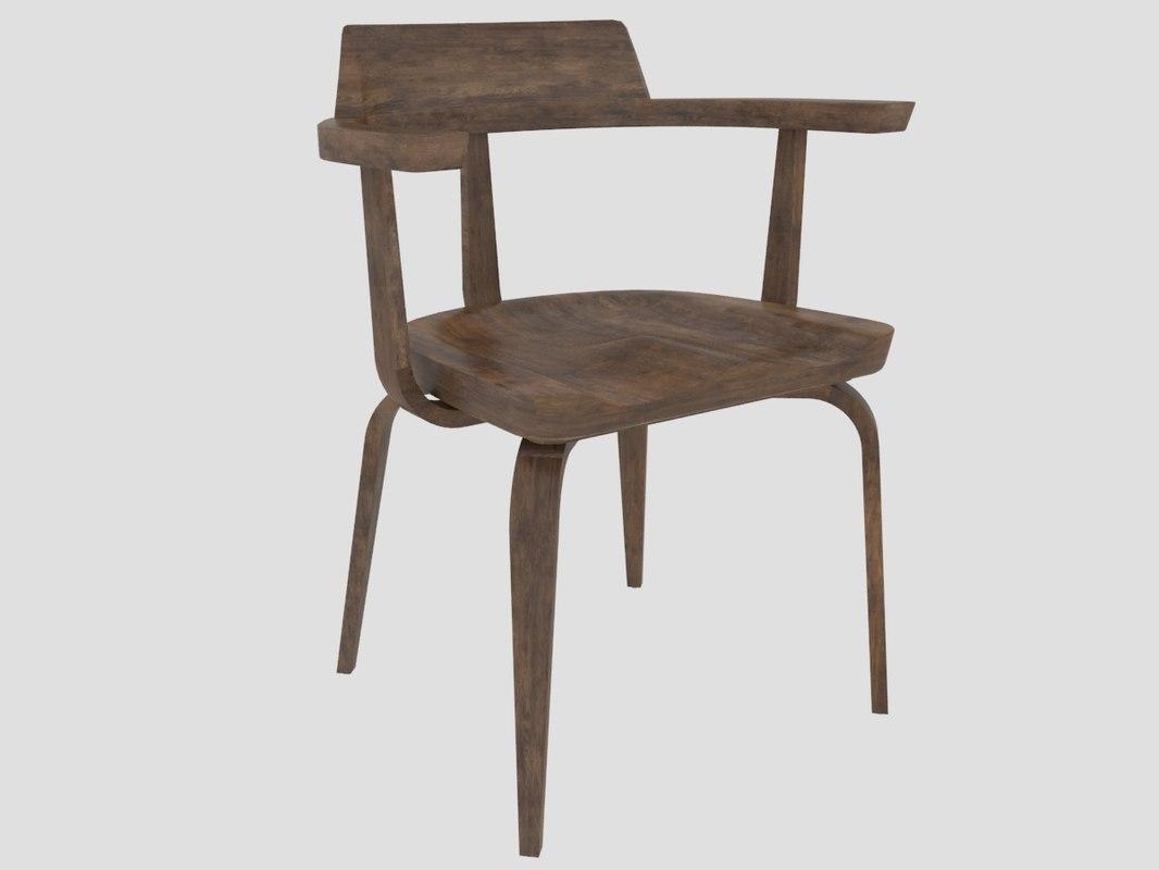 3D w199 armchair walter