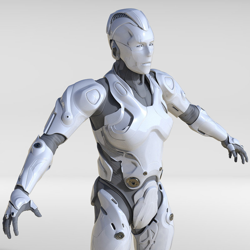 3d model cyborg human turbosquid 1210552