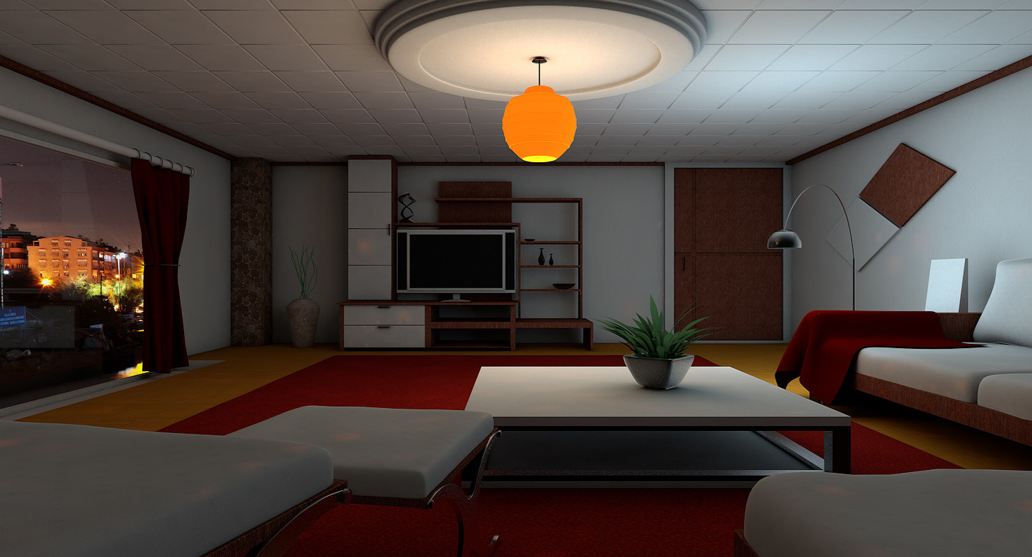3d Visuals Luxury Lounge Room Model Turbosquid 1210554