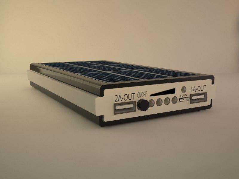 solar power bank 3D
