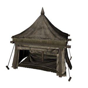 3D model old tent