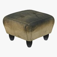 Old Leather Armchair Stool - Scanned