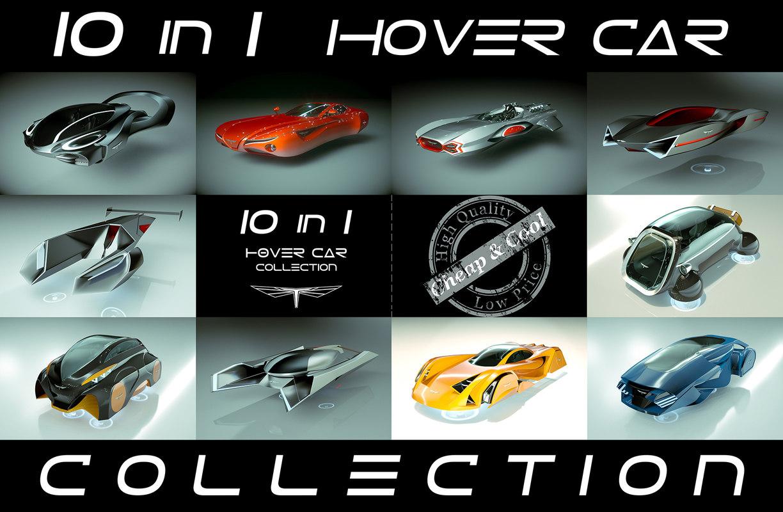 10 1 cool hover car 3D