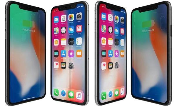 3D apple iphone x space model