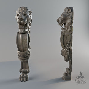 lion ballustrade 3D model
