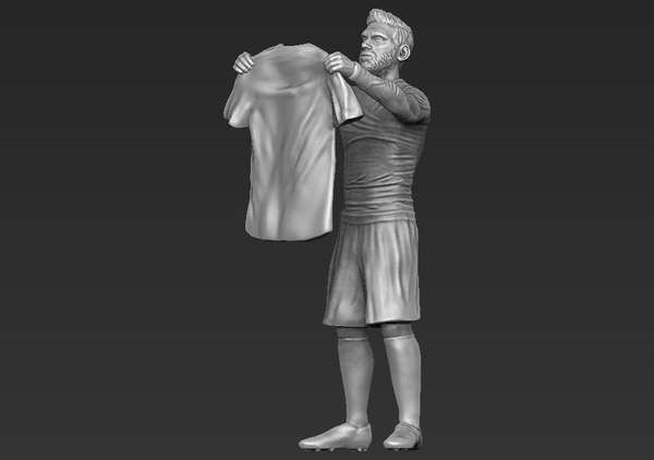 3D lionel messi ready printing model