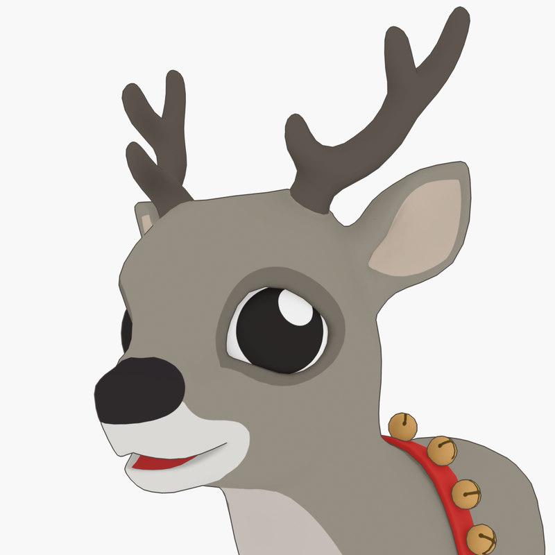 deer reindeer xmas 3D model