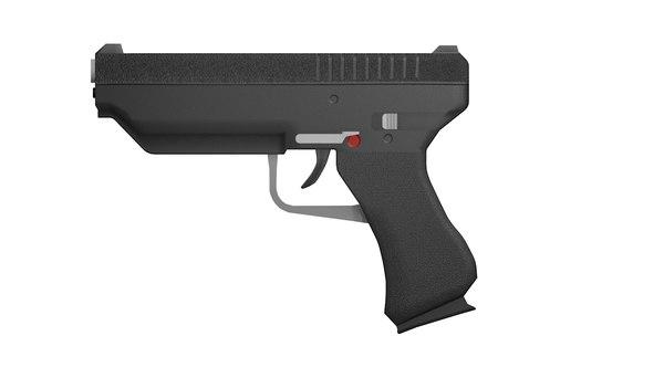 3D pistol design model