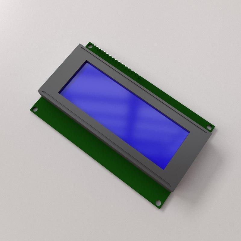 3D model lcd module