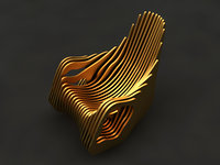 3D armchair mold decor